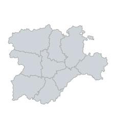 Mapa Castilla Y Leon En Blanco.Por Procedencia Geografica Senado De Espana