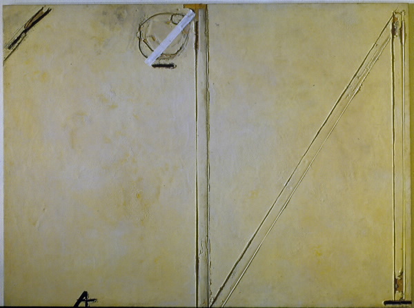 "17 Tapies, ""Lineas sobre materia amb collage"""